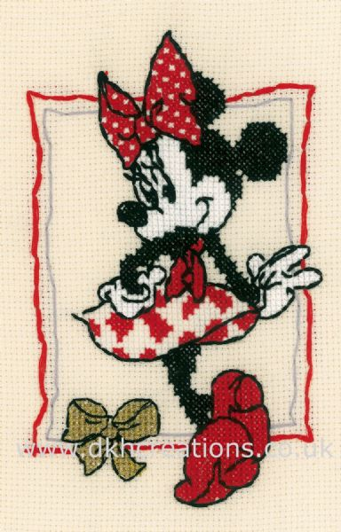 Disney Its About Minnie Mouse Cross Stitch Kit